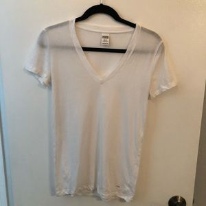 NEVER WORN- White Victoria Secret T Shirt